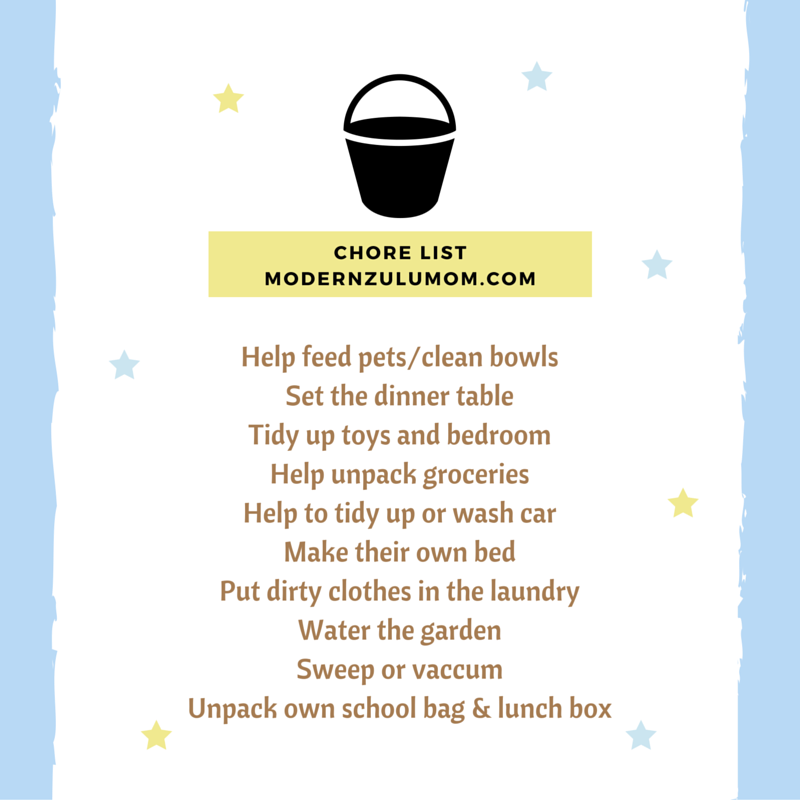 Childrens chores; chores; chore list; age appropriate chores; why children need chores
