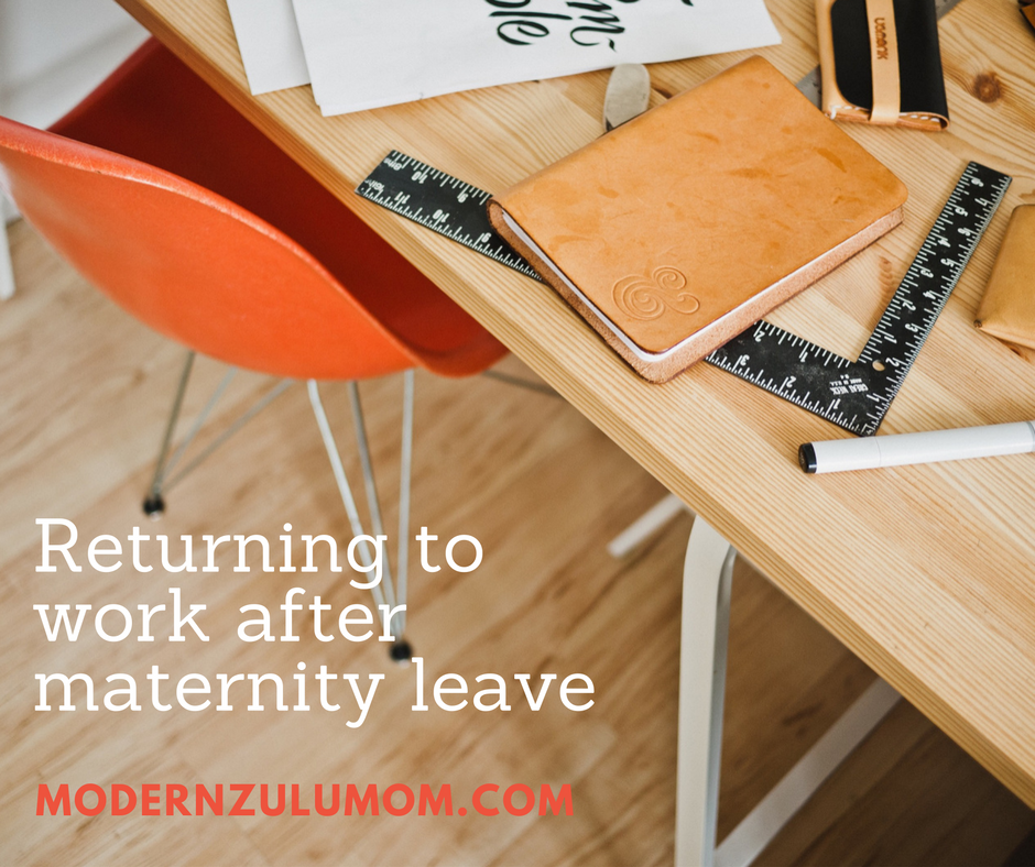 Returning to work after maternity leave