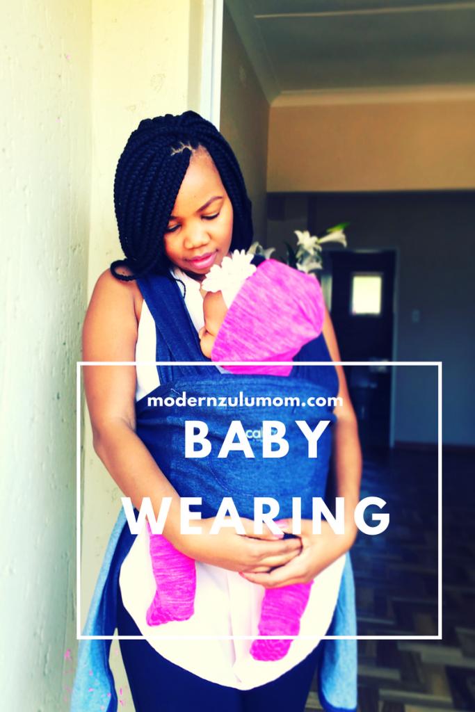 baby wearing; modern zulu mom