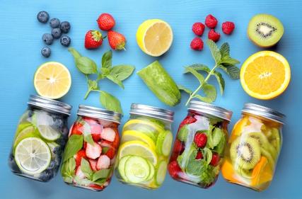 Detox water; fruit infused water