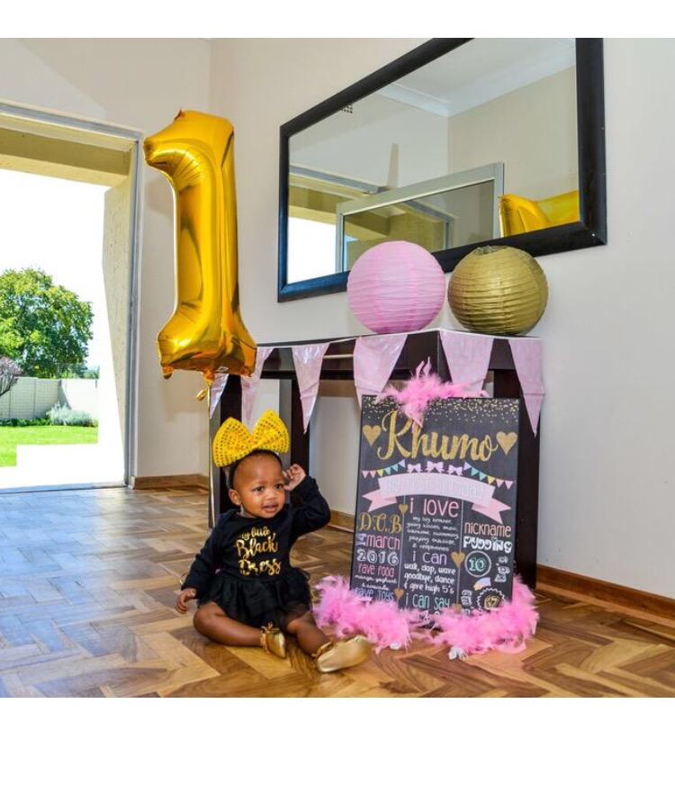 khumo 39 s first birthday party modern zulu mom. Black Bedroom Furniture Sets. Home Design Ideas