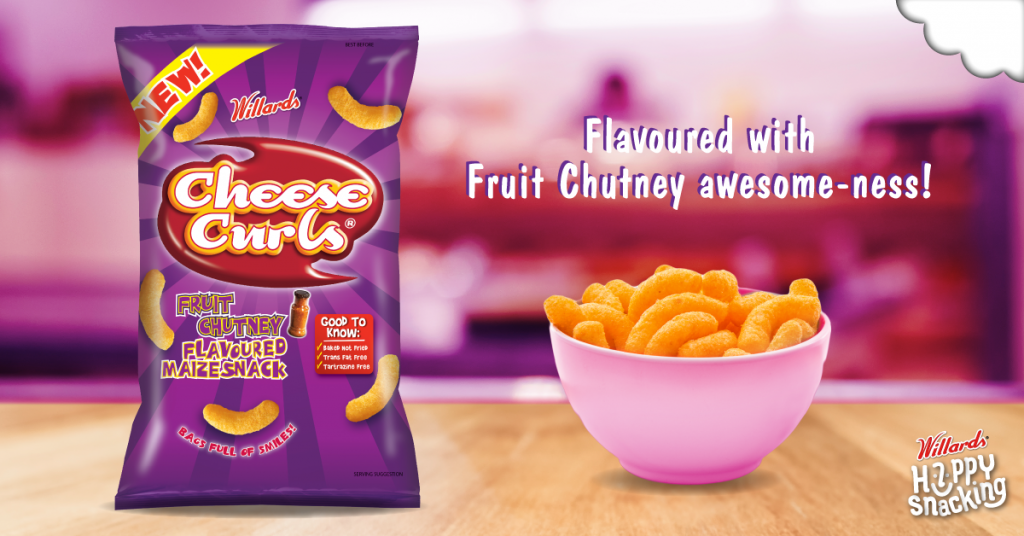 Cheese Curls Fruit Chutney