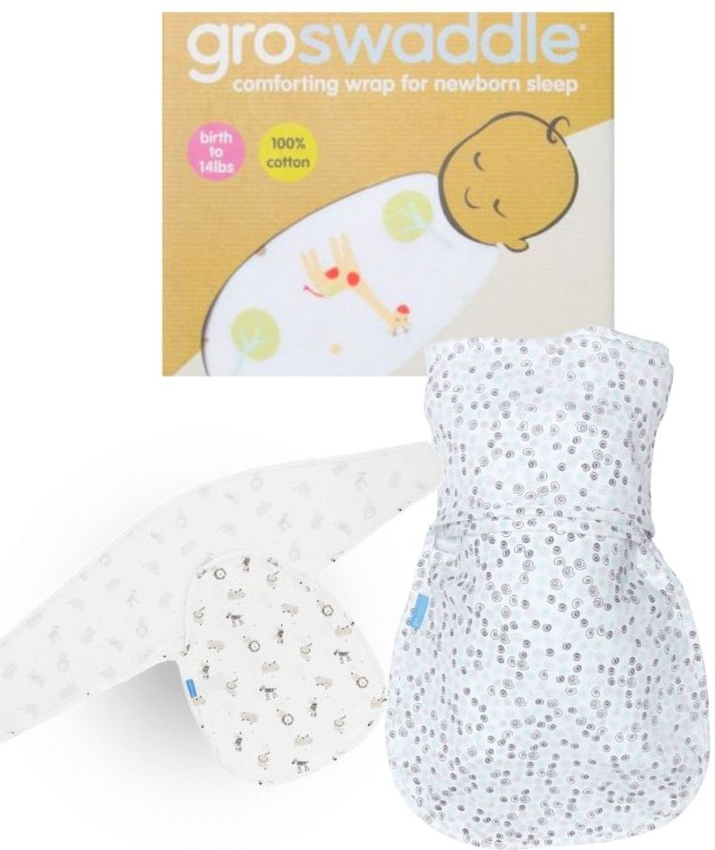 GroSwaddle; Sleep aid; sleep aids for babies; swaddle; swaddling
