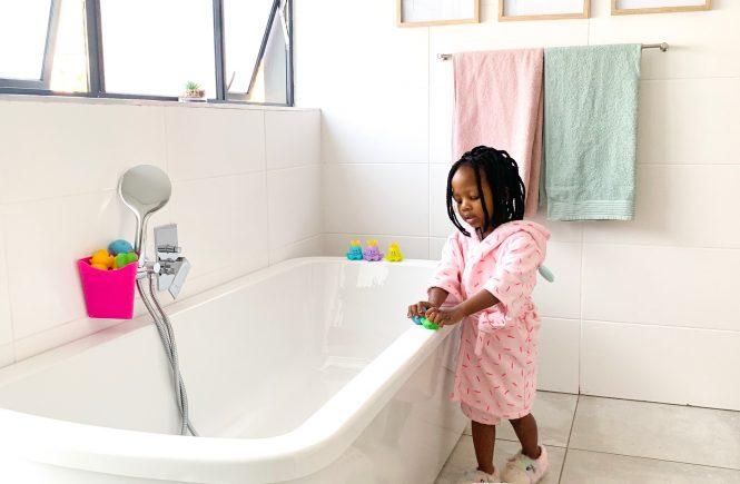 Children's bathroom; children's bathroom reveal; kids bathroom; gender neutral bathroom;